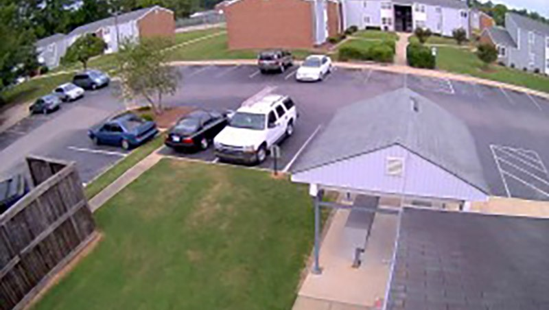 Security Camera Footage of Parking Lot