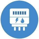 energy and water meter icon