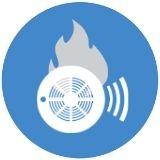 Carbon monoxide and carbon dioxide gas sensors icon