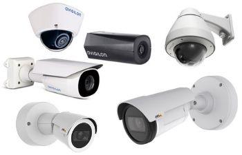 assortment of indoor and outdoor video surveillance cameras