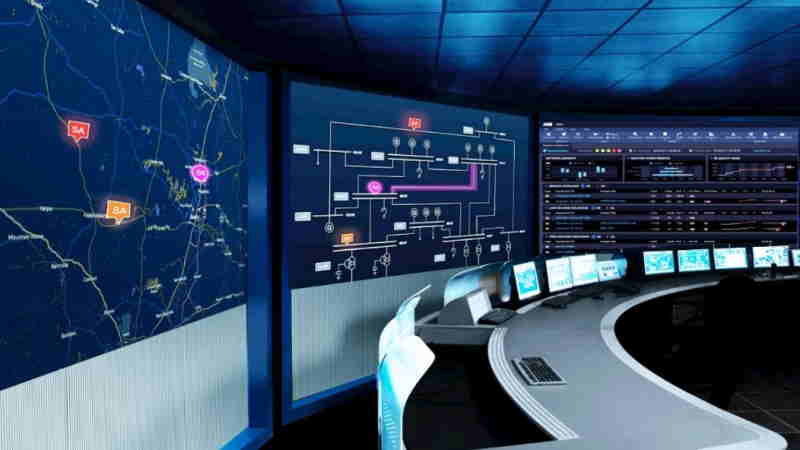 an energy management and information system control center